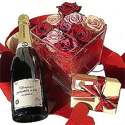 Roses, Champagne & Chocolates